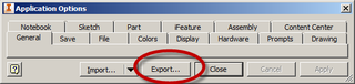 Export Application Options
