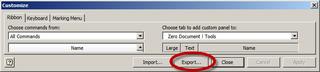 Export Customize