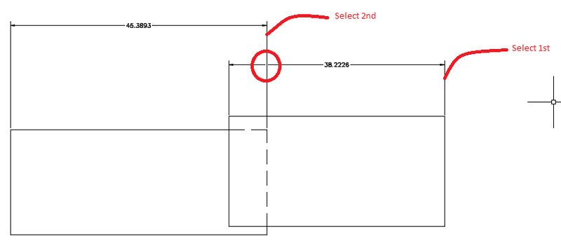 AutoCAD Dimbreak for Dimsensions that Cross