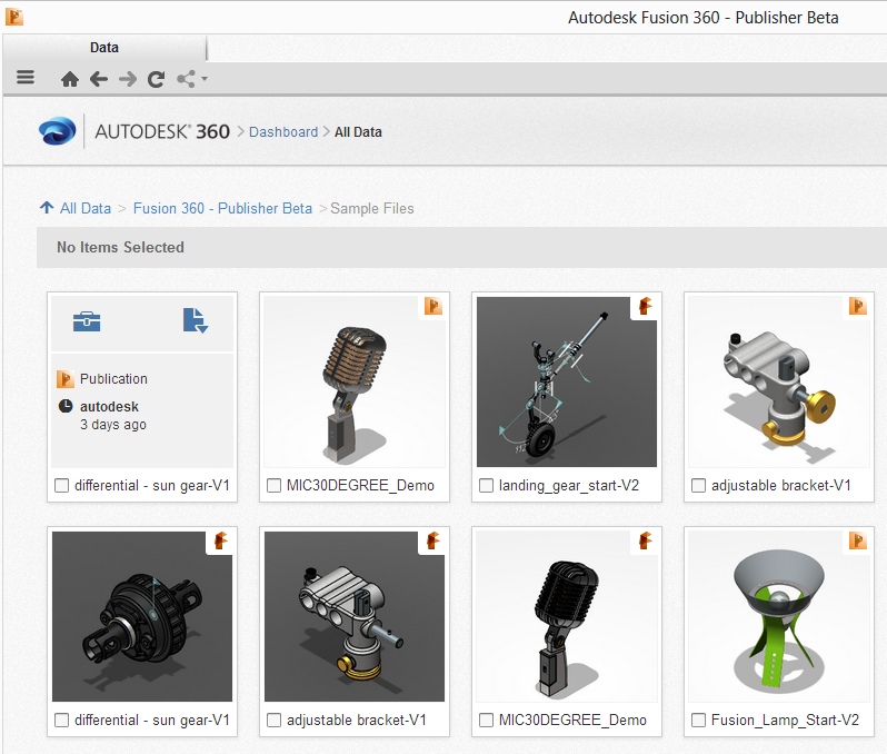 Autodesk Fusion Publisher 360 Beta - No Fusion 360 Needed