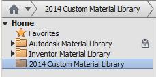 Custom material library