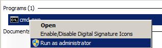 CMD run as Admin