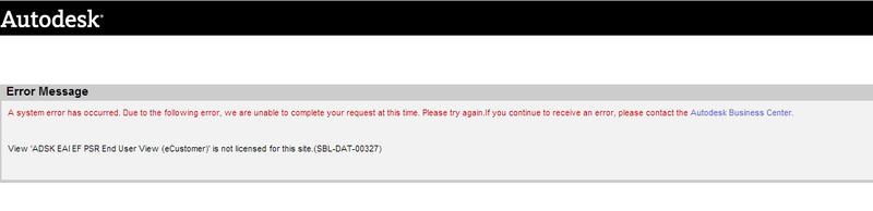 Subscription error message