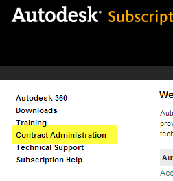Subscription contract admin