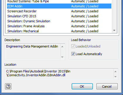 Vault Ribbon disappears after opening a file in Inventor