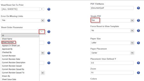 Pdf sheet parameter