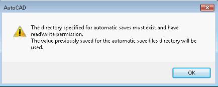 AutoCAD/AutoCAD Architecture/ AutoCAD MEP: Automatic save warning