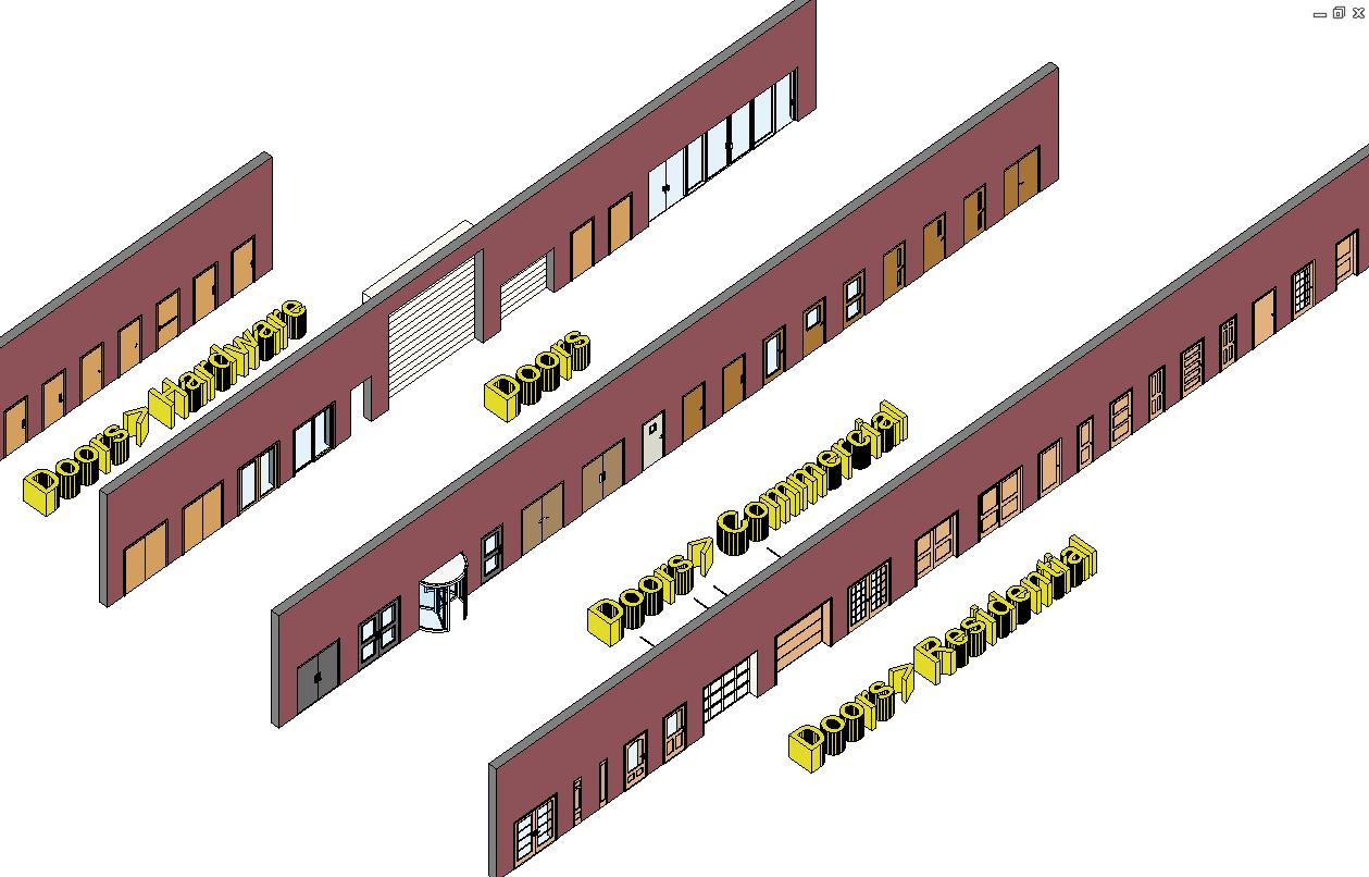 Door revit overhead door corporation bim content sc 1 for New door design 2016