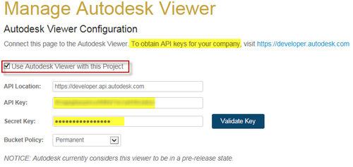 Manage Autodesk Viewer