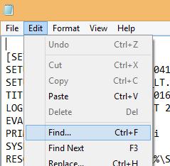 File find