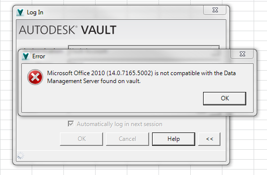 MS Office 2010 is not compatible with ADMS