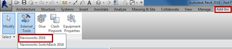 Exporting from Revit to Navisworks the model appears to be