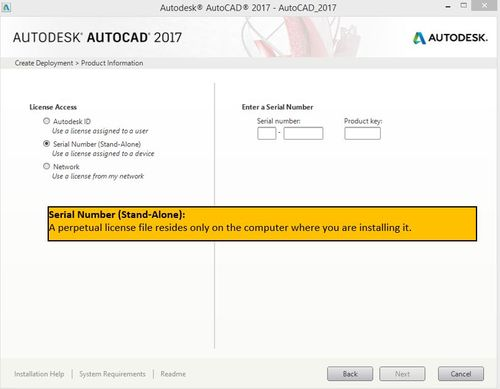 AutoCAD 2017 install and creating a deployment screens