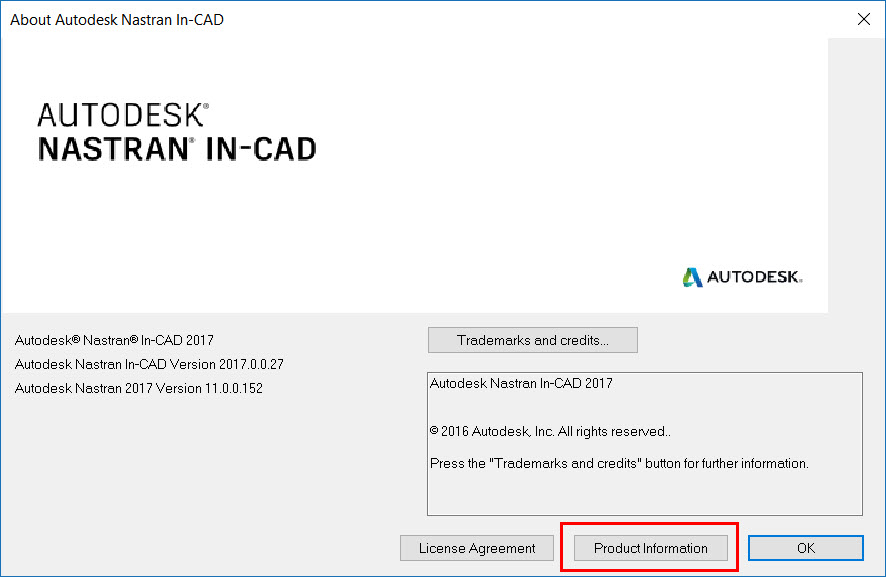 Install Nastran In-CAD for Inventor 2017 and choose license type