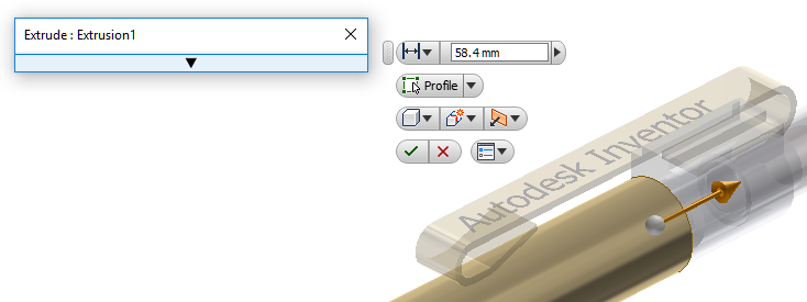 Rollup dialog