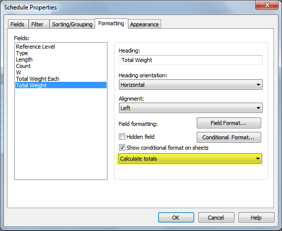 Revit Structural Framing Schedule with Weights - IMAGINiT