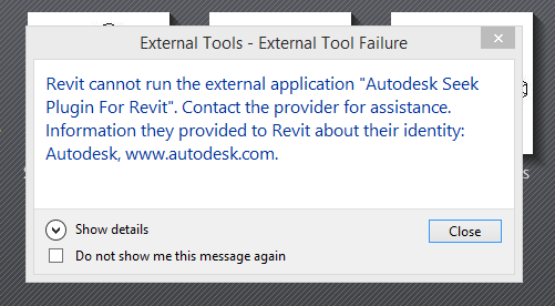 Autodesk seek error