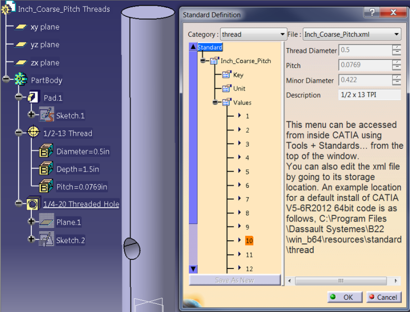 How to setup Thread Standards in CATIA - Rand 3D: Insights