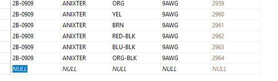 AutoCAD Electrical 2017/2018 SQL _W0_CBLWIRES database ...