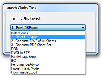 ClarityRevitAddin-Connect-LaunchTask-Dropdown