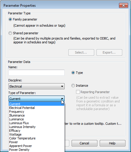 Type of Parameter