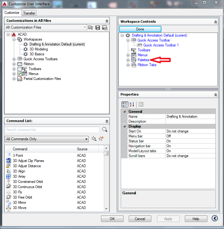 AutoCAD Command Line Missing Lets get it backDONEFig3