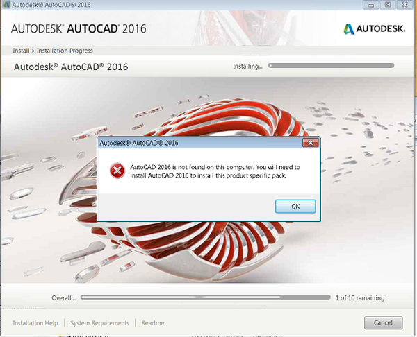 Autocad Installation Error  Autocad 2016 Is Not Found On