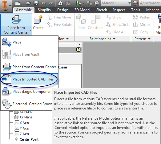 Inventor 2016: more file import options and AnyCAD
