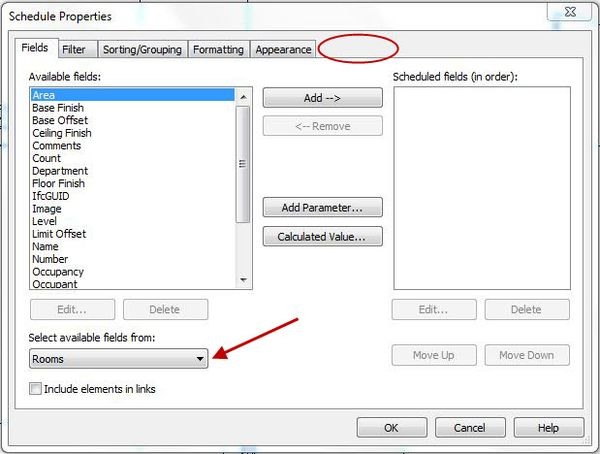 Revit Schedules - Embedded Schedule Tab Missing! - IMAGINiT Building