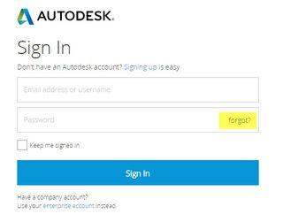 Autodesk signin