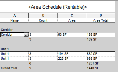 Area Sched 1