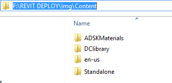 Deployment for revit content