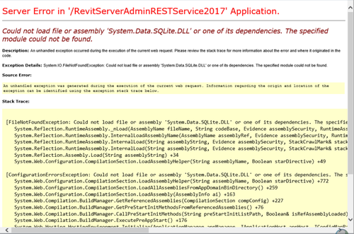 RS 2017 error