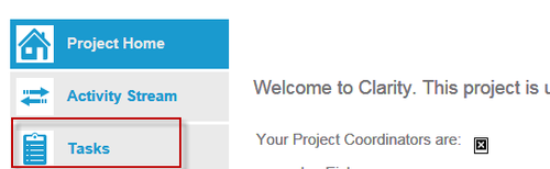 Task on project page