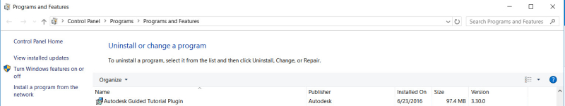Install Autodesk Guided Tutorial