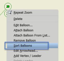 Sort balloons