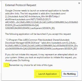 External protocol request