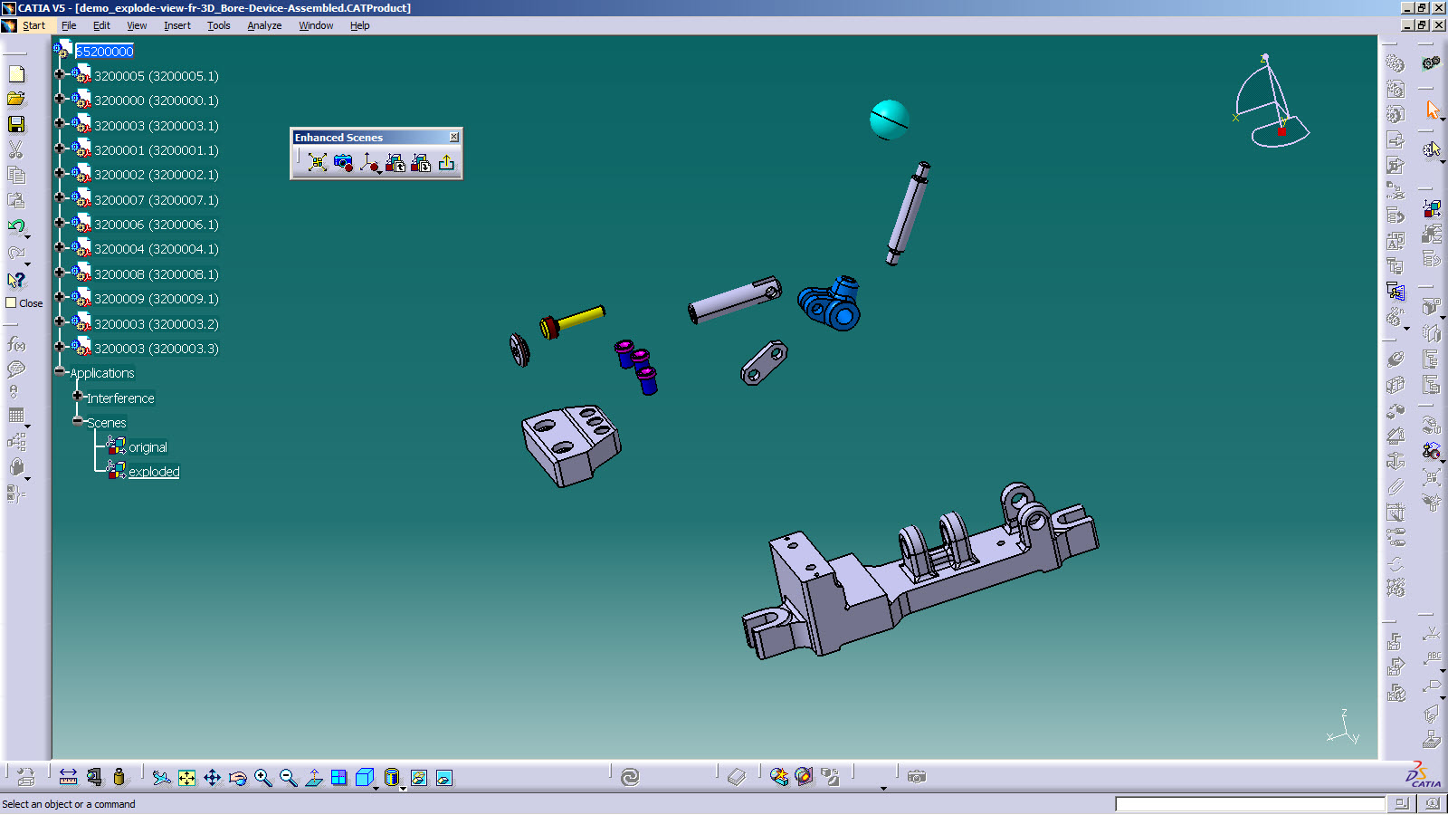CATIA V5 Tip: How to Create a Drawing View from a Scene