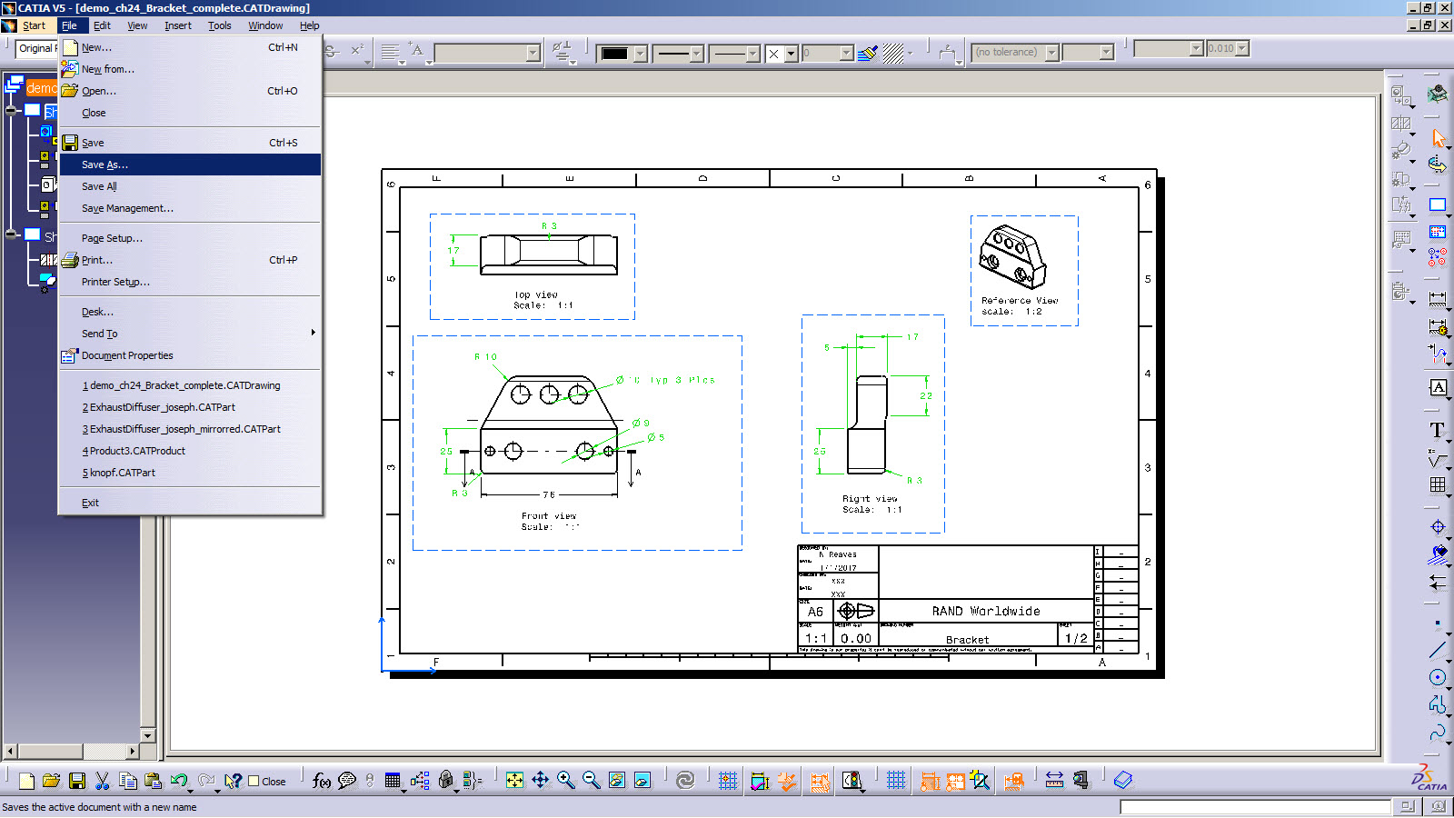 CATIA V5 Tip: How to Save a Drawing to PDF - Rand 3D