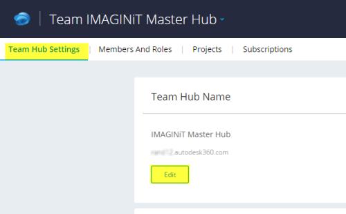Team hub name