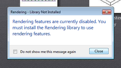 Revit 2018 Rendering - Library Not Installed message