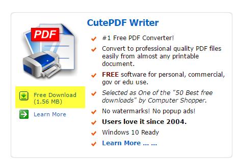 free pdf writer for windows 10