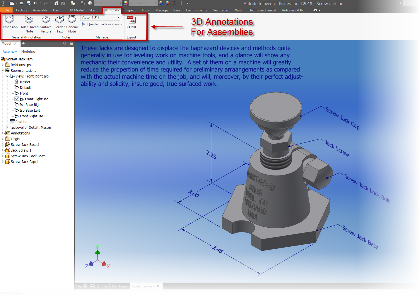 Model Based Definition With Autodesk Inventor - IMAGINiT