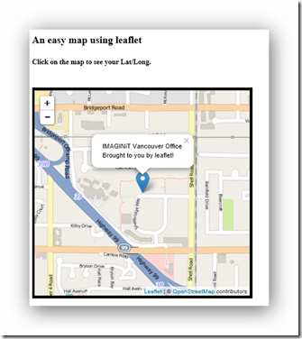 Building a Simple Interactive Map with Leaflet - IMAGINiT Civil
