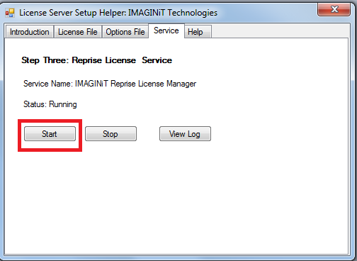 Imaginit Utilities redirecting the Port Reprise license Server Uses fig3