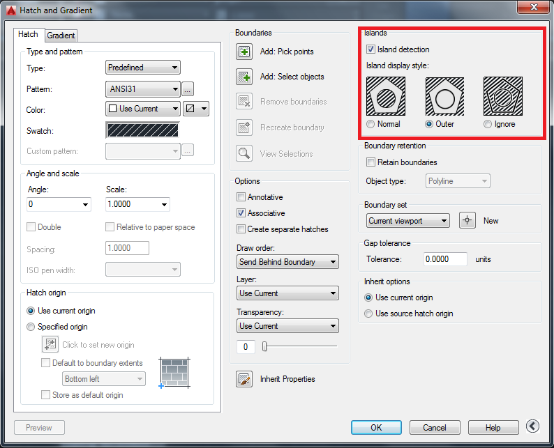 AutoCAD Island Detection in the Hatch Command fig 2