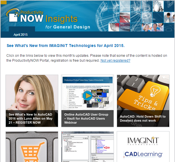April 2015 ProductivityNOW Newsletter