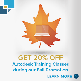 Fall Autodesk Training Promotion