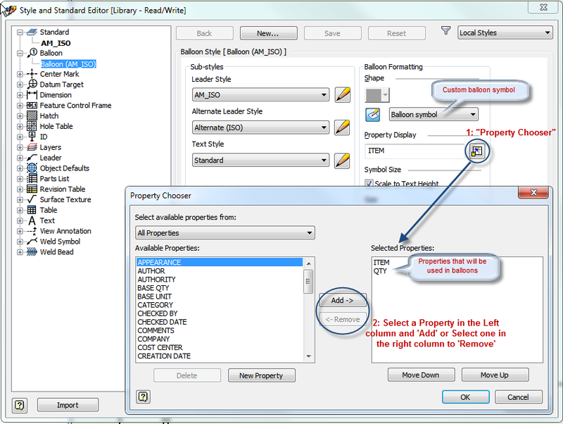 Control Values In Inventor Balloon With A User Defined Symbol Shape