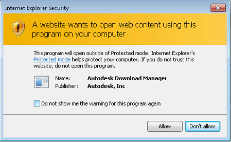 IE Security autodesk